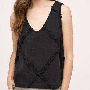 Anthropologie HD in Paris Crosshatched Tank Top